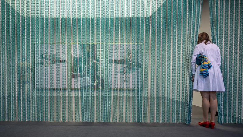 Der Stand der Fondation Beyeler an der Art Basel am 22. September 2021. © KEYSTONE/Georgios Kefalas