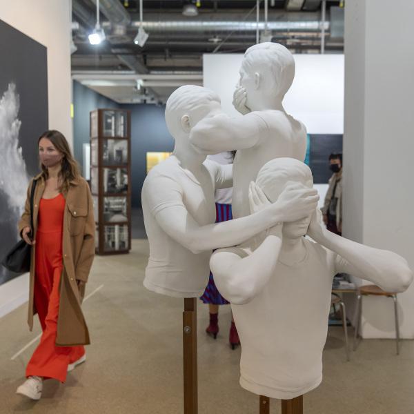 Ein Werk ohne Titel (2010-2021) von Shilpa Gupta an der Art Basel am 22. September 2021. © KEYSTONE/Georgios Kefalas