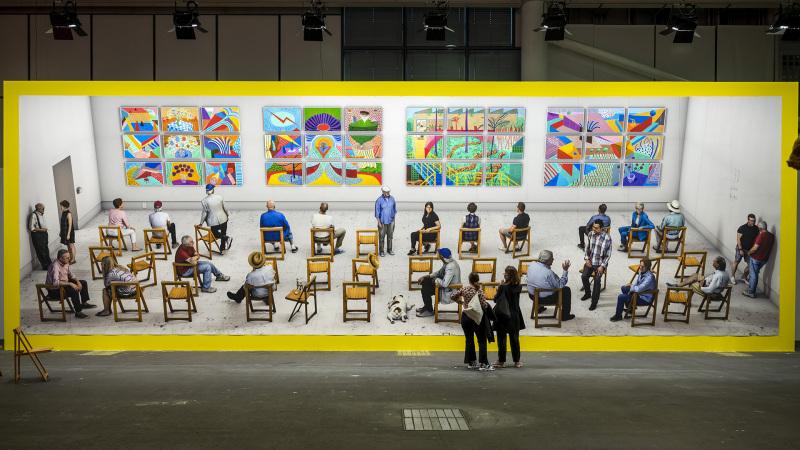 Pictures at an Exhibition (2018/2021) von  David Hockney an der Art Unlimited Basel am 21. September 2021. © KEYSTONE/Georgios Kefalas
