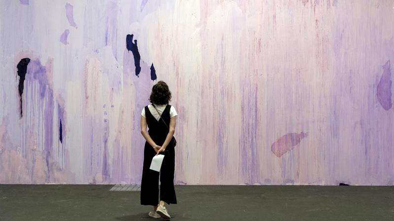 Penetrable (2019) von Thu Van Tran an der Art Unlimited Basel am 11. Juni 2019. © KEYSTONE/Georgios Kefalas