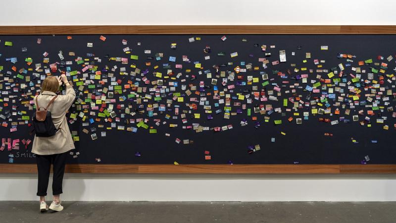 Bataille (2017) von Rivane Neuenschwander an der Art Unlimited Basel am 11. Juni 2019. © KEYSTONE/Georgios Kefalas