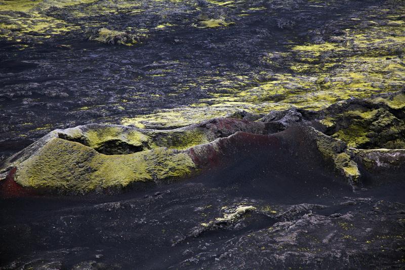 Luftaufnahme vom Gebiet der Laki-Krater in der Naehe der Ausbruchsspalte Eldgja in Island, am 28. Juni 2012. © Georgios Kefalas